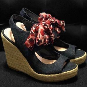 Juicy Couture Denim Wedges